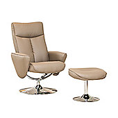 Sofa Collection Sierra Swivel Chair And Footstool - Beige
