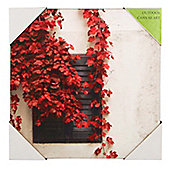 Pacific Lifestyle Red Ivy Canvas Wall Art
