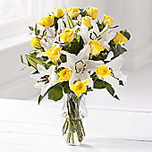 Yellow Rose & Lily Large Bouquet