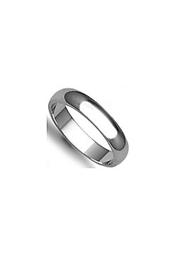 Palladium Premium Quality 4mm D-Shape Wedding / Commitment Ring