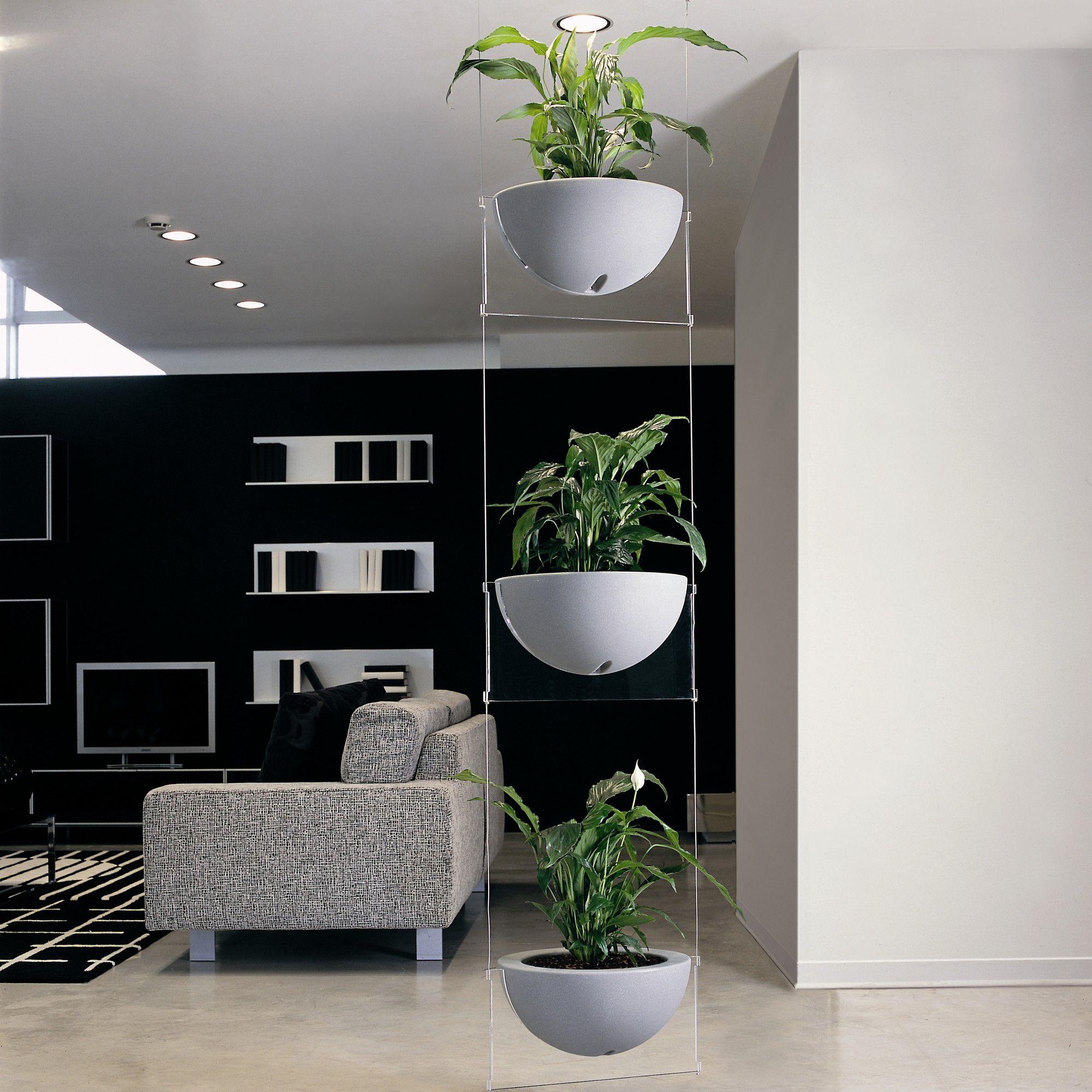 Emporium Positive Design Eebavoglio Triple Flower Tray - Grey at Tesco Direct