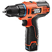 Black & Decker Drill driver 10mm keyless chuck 10.8v HPL106KB