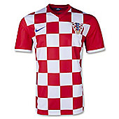 2014-15 Croatia Home World Cup Football Shirt - Red