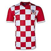 2014-15 Croatia Home World Cup Football Shirt - Red