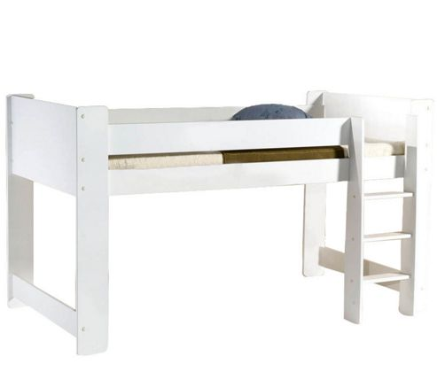 Cube Mid Sleeper Bed - White