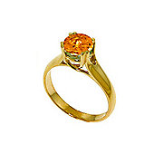 QP Jewellers 1.10ct Citrine Solitaire Ring in 14K Gold