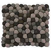 The Ultimate Rug Co. Rocks Floor Cushion Grey