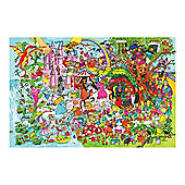 Bigjigs Toys BJ019c Fantasyland Floor Puzzle (96 Piece)