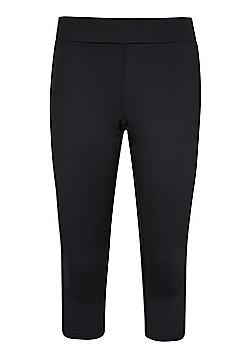 Womens Sprint ? Length Running Cycling Gym Short Pants Trousers Tights Leggings - Black