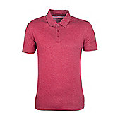 Quest Mens Technical Polo Shirt - Red