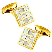 Gold Plated Sterling Silver Mother of Pearl Cufflinks