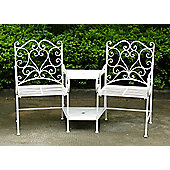 Bentley Garden Wrought Iron White Companion Seat