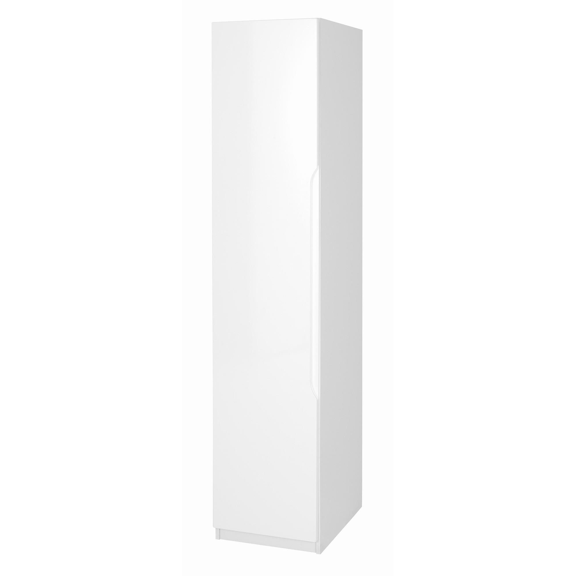 Alto Furniture Visualise Alpine Single Wardrobe in High Gloss White at Tesco Direct