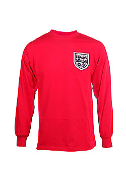 Score Draw England 1966 World Cup Final No 6 Mens Home Football Shirt - Red