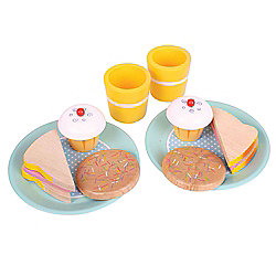 Bigjigs Toys BJ320 Wooden Play Food Tea for Two