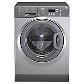 Hotpoint Aquarius WMAQF621G Washing Machine, 6Kg Load, 1200 RPM Spin, Graphite