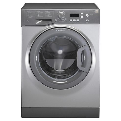 Hotpoint Aquarius WMAQF621G Washing Machine, 6Kg Wash Load, 1200 RPM Spin, A+ Energy Rating, Graphite