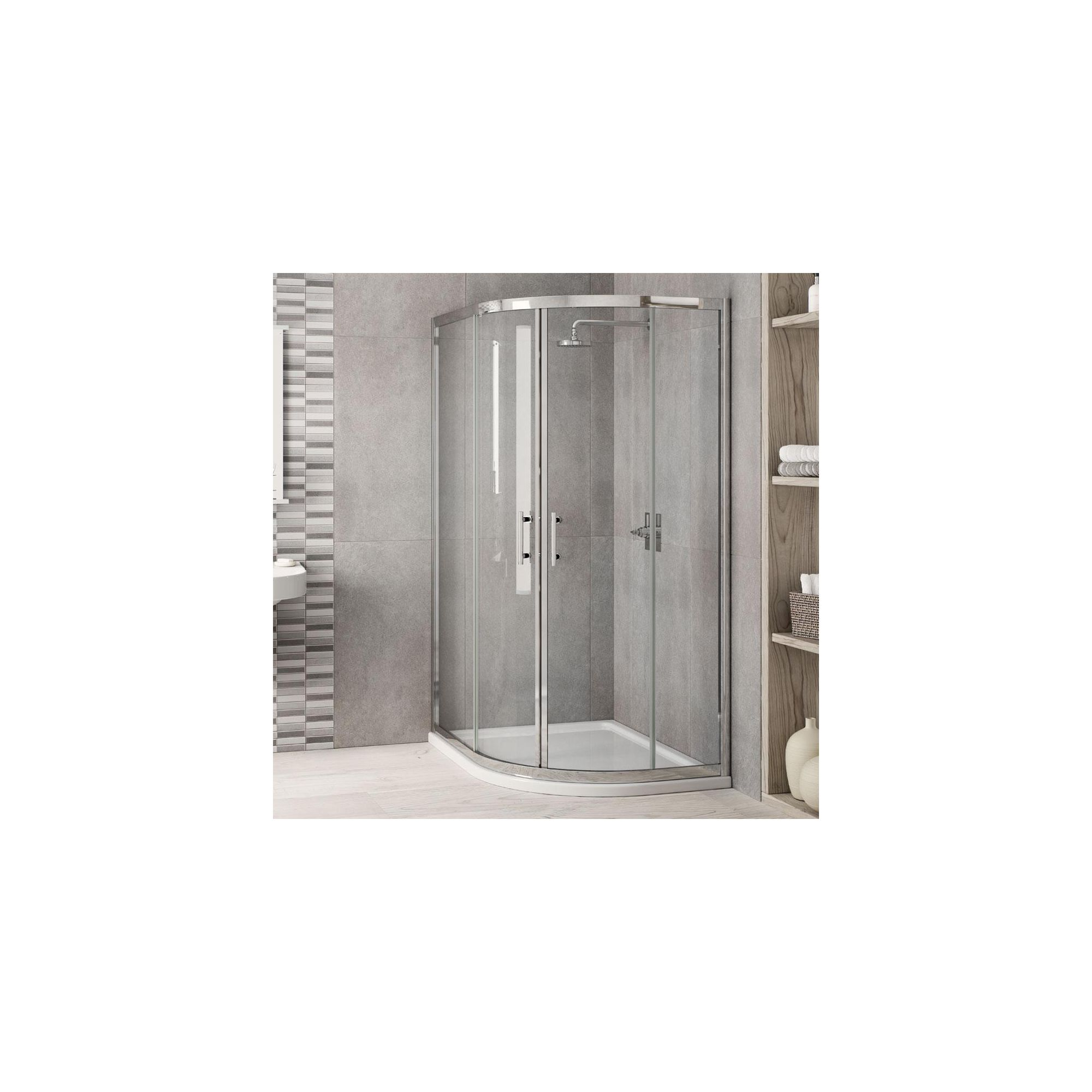 Elemis Inspire Offset Quadrant Shower Enclosure, 900mm x 800mm, 6mm Glass, Low Profile Tray, Left Handed at Tesco Direct