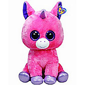"TY Beanie Boo 16"" Plush Pink Unicorn Magic"