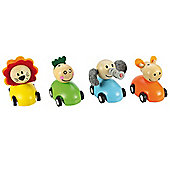 Bigjigs Toys BJ896 Pull Back Racing Animal (Pack of 2 - Designs Vary)