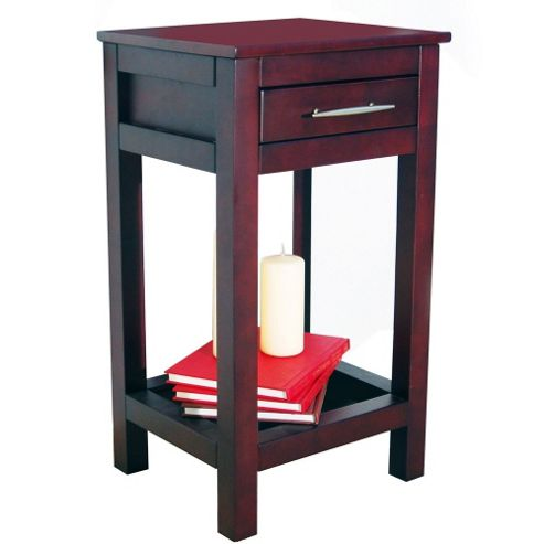 Techstyle Solid Wood Storage Telephone / End Table - Wenge