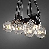 10 Warm White LED Circus Festoon Lights