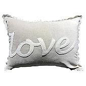 Applique Love Lace Border Cushion