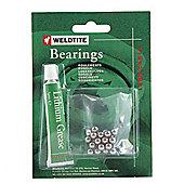 "Weldtite 1/4"" Ball Bearings & Grease (24 Balls)"