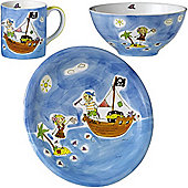 Children's Dinner Set - Pirate of Love