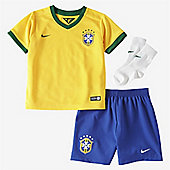 2014-15 Brazil Home World Cup Infants Kit - Yellow