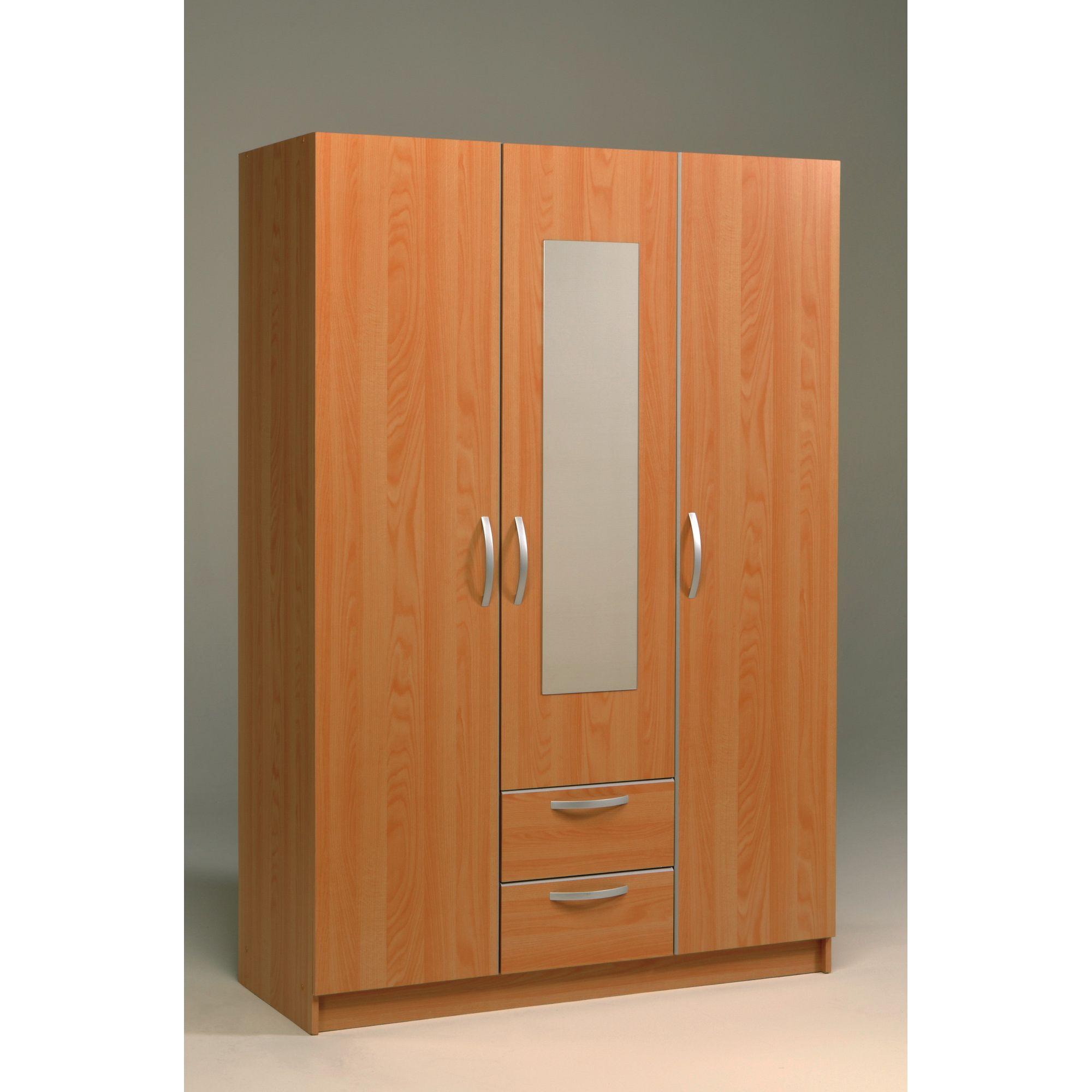 Parisot Soluce Three Door Wardrobe in Japan Pear Tree / Grey Silver at Tesco Direct