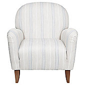 Lausanne Armchair - Ticking Stripe Blue