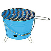 Tesco Small Charcoal Bucket BBQ, Blue