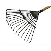 Faithfull Lawn Rake 16T Carbon Steel Ash Handle