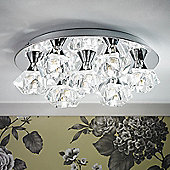 Endon Lighting Seven Light Flush Mount in Polished Chrome
