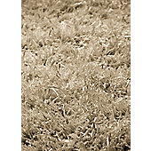 InRUGS Diamond Beige Shaggy Rug - 200cm x 140cm (6 ft 6.5 in x 4 ft 7 in)