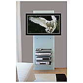 Triskom Wall-Mounted TV Stand - Glass