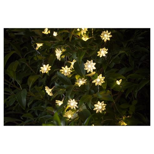 buy tesco white flower solar string lights 25 bulbs from. Black Bedroom Furniture Sets. Home Design Ideas