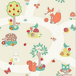Forest Friends Wallpaper - Neutral - Arthouse 667201