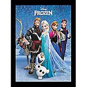 Disney Frozen, Large Framed Picture, Main Cast