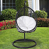 Outsunny Garden Hanging Egg Chair with Cushion