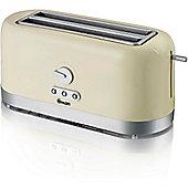Swan 4 Slice LongSlot Toaster - Cream