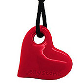 Jellystone Junior Heart Teething Pendant in Scarlet Red