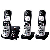 Panasonic KX-TG6823 Triple Cordless Phone - Black