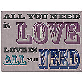 Red Hot Lemon All You Need is Love Wall Art