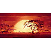 Eurographics Sunrise With Elephants Canvas