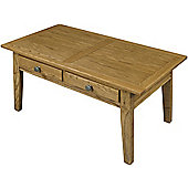 Old Charm Hertford 2 drawer Coffee Table - Natural