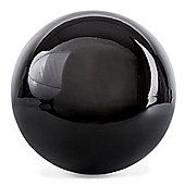 Polished Black Stainless Steel 25cm Garden Sphere Gazing Ball Ornament