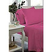 Catherine Lansfield Non Iron Percale Combed Poly-Cotton Fitted Sheets in Claret - King