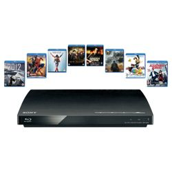 Sony BDP-S185 starter bundle with 8 blu ray discs